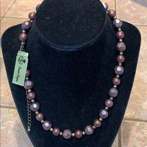 Premier designs Newberry necklace gold purple